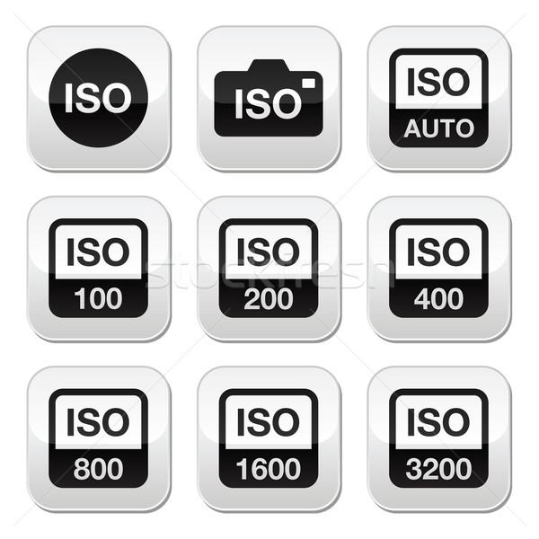 ISO - camera film speed standard buttons set Stock photo © RedKoala