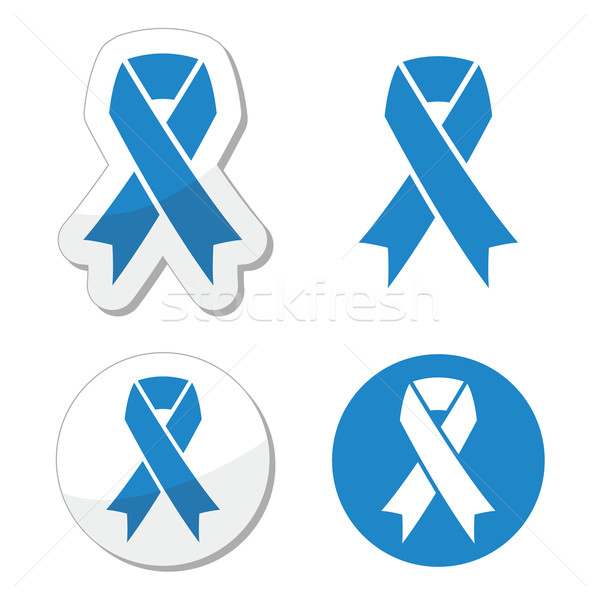Blue ribbon - drunk driving, child abuse, anti-tobacco awareness symbol  Stock photo © RedKoala