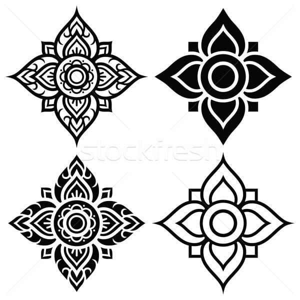 Thai folk art pattern - flower shape   Stock photo © RedKoala