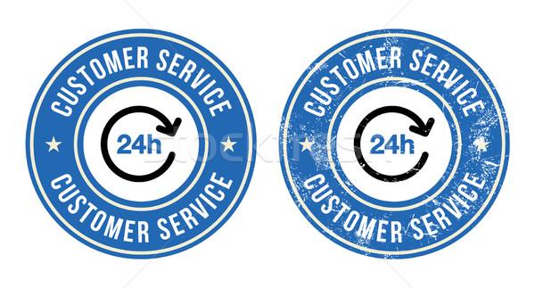 24h customer service retro badges Stock photo © RedKoala