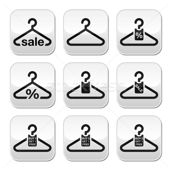 Hanger, sale, buy 1 get 1 free buttons set Stock photo © RedKoala