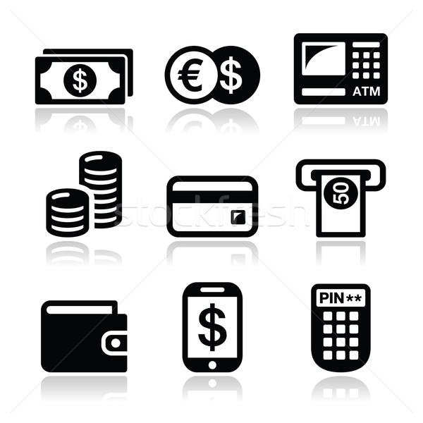 Dinero atm efectivo vector financiar Foto stock © RedKoala