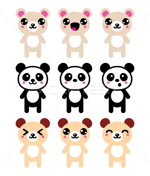 Kawaii tener cute panda diseno Foto stock © RedKoala