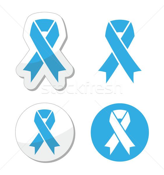 Blu nastro cancro infanzia simbolo prostata Foto d'archivio © RedKoala