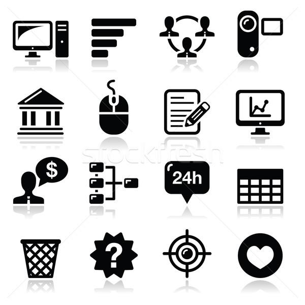 Stockfoto: Website · menu · navigatie · zwarte · vector