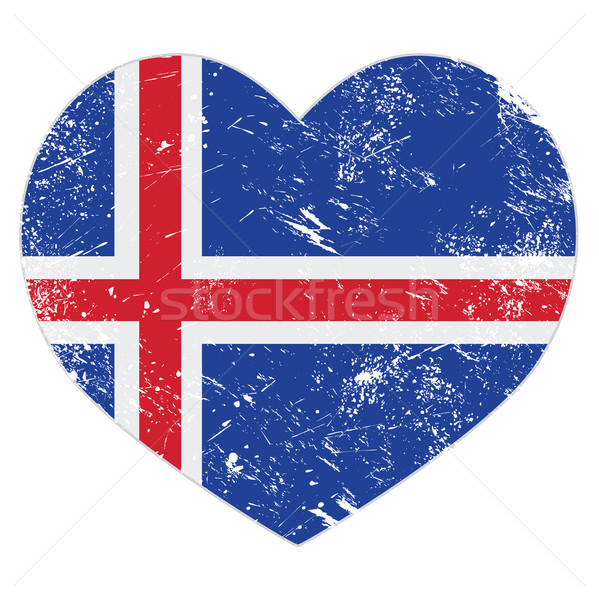 Iceland heart retro flag   Stock photo © RedKoala