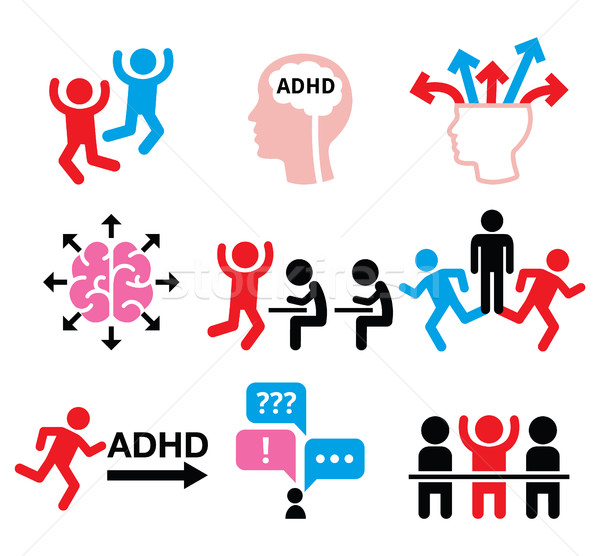ADHD - Attention deficit hyperactivity disorder vector icons set  Stock photo © RedKoala