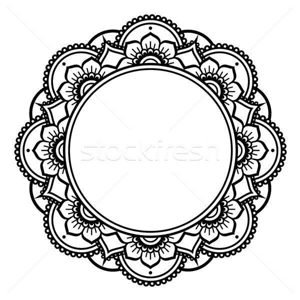 Mandala design, Mehndi henna tattoo inspired round pattern Stock photo © RedKoala