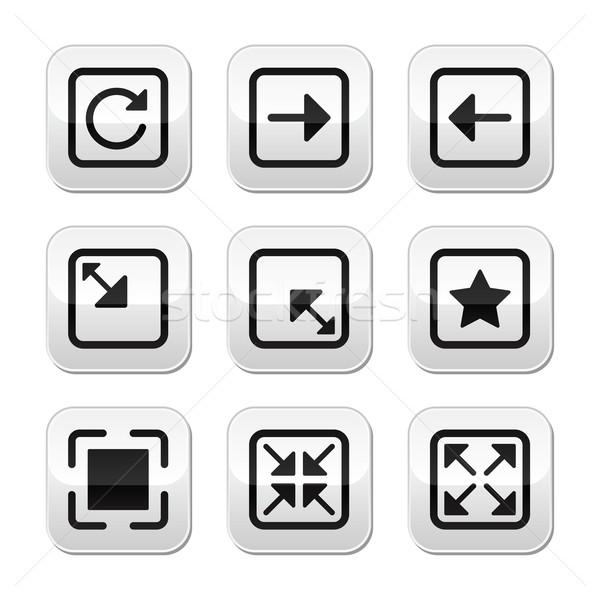 Website screen size buttons set - full screen, minimize, refresh Stock photo © RedKoala