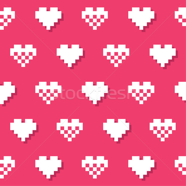 Heart pink seamless background, pattern - Valentines Day Stock photo © RedKoala