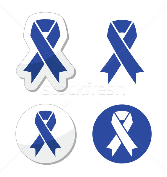 Navy blue ribbon - child abuse, drunk driving symbol Stock photo © RedKoala