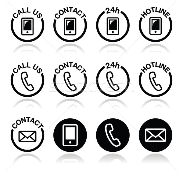 Contact hotline helpen web vector Stockfoto © RedKoala