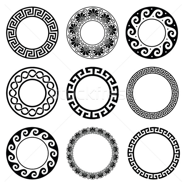 Ancient Greek round pattern - seamless set of antique borders from Greece  Stock photo © RedKoala
