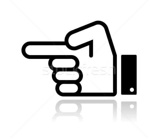 Pointing hand icon vector Stock photo © RedKoala