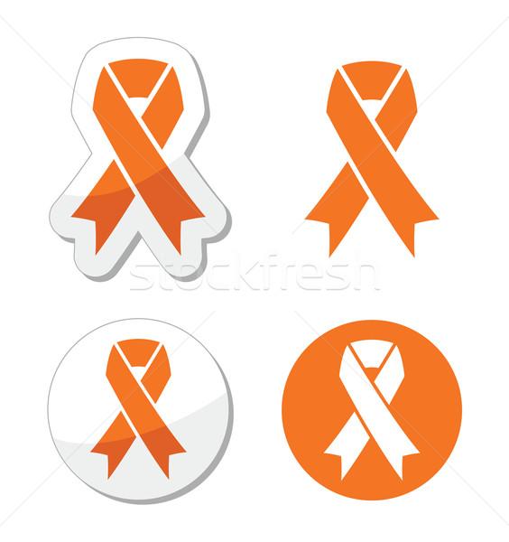 Naranja cinta hambre tratamiento animales signo Foto stock © RedKoala