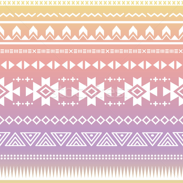 Tribal aztec ombre seamless pattern Stock photo © RedKoala
