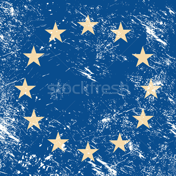 EU retro flag Stock photo © RedKoala