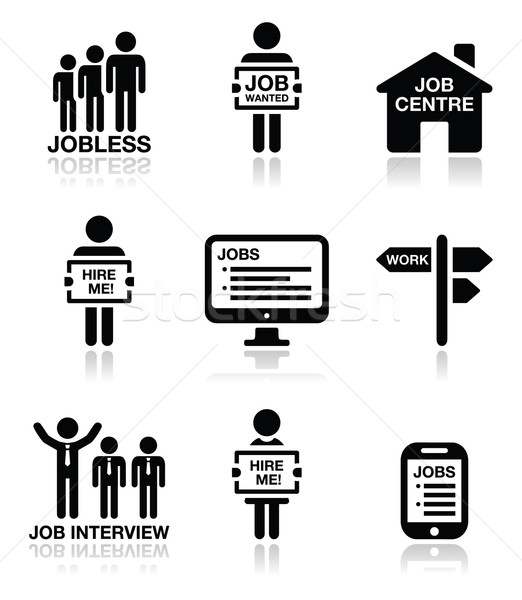 Unemployment, job searches vector icons set  Stock photo © RedKoala