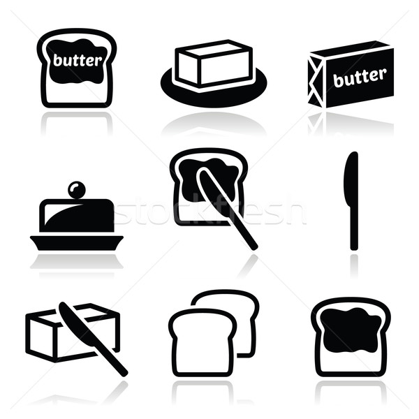 Butter or margarine vector icons set  Stock photo © RedKoala