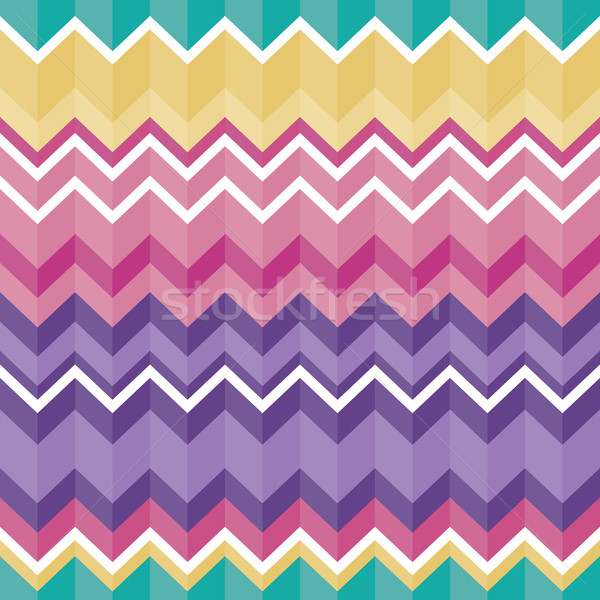 Tribal folk aztec seamless texture, pattern with zig zag Stock photo © RedKoala