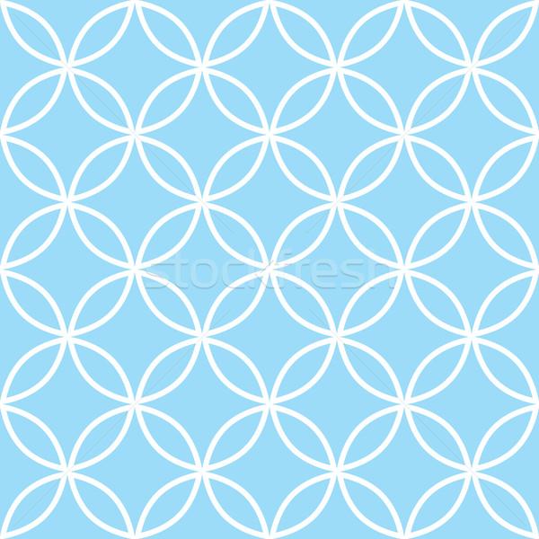 幾何学的な パステル 青 現代 ストックフォト © RedKoala