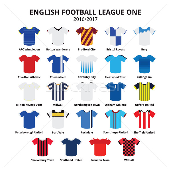 English Football League One jerseys 2016 - 2017 vector icons set Stock photo © RedKoala