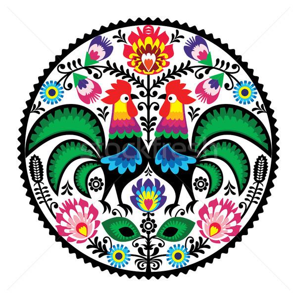 フローラル 刺繍 伝統的な パターン 装飾的な ベクトル ストックフォト © RedKoala