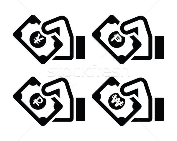 ストックフォト: 手 · 孤立した · 白