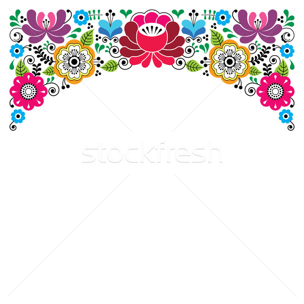 Russian floral pattern, colorful composition - wedding invitation, greetings card Stock photo © RedKoala