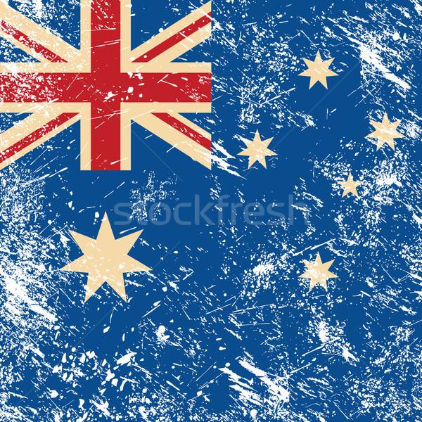 Austrália retro bandeira australiano vintage estilo retro Foto stock © RedKoala