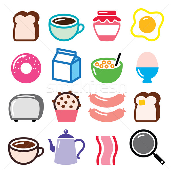 Сток-фото: завтрак · продовольствие · вектора · тоста · яйца