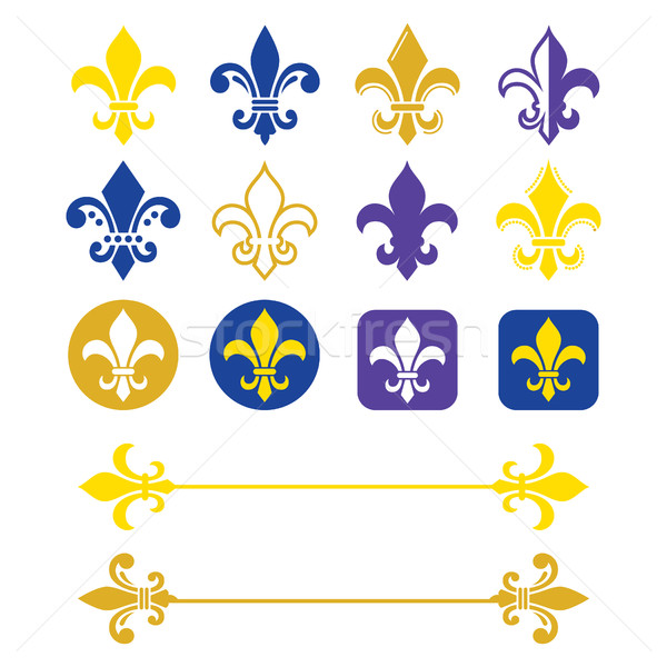 Fleur De Lis French Symbol Gold And Navy Blue Design Scouting