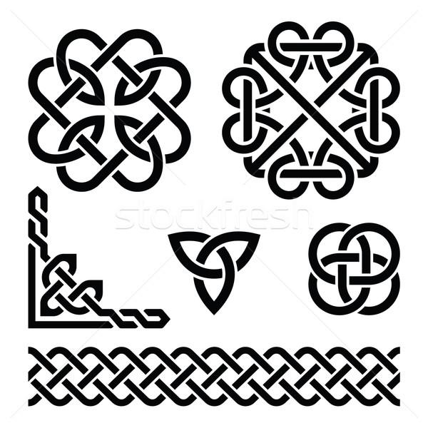 Celtic Ierse patronen vector ingesteld Stockfoto © RedKoala