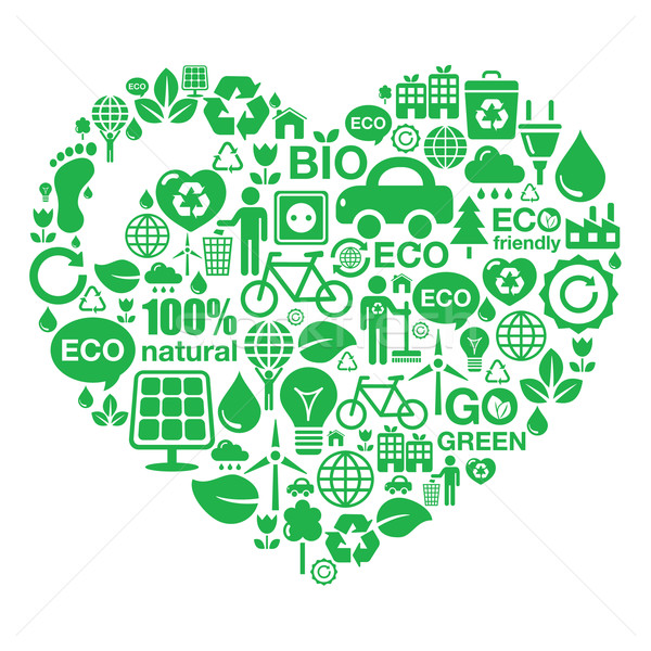 Eco heart background -  green ecology Stock photo © RedKoala