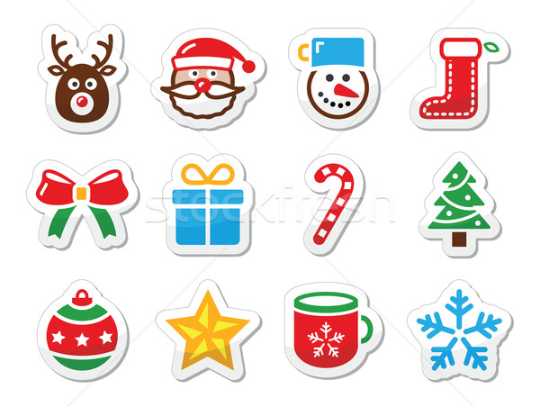 Christmas icons set as labels Stock photo © RedKoala