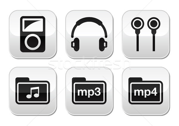 Mp3 player vector buttons set Stock photo © RedKoala