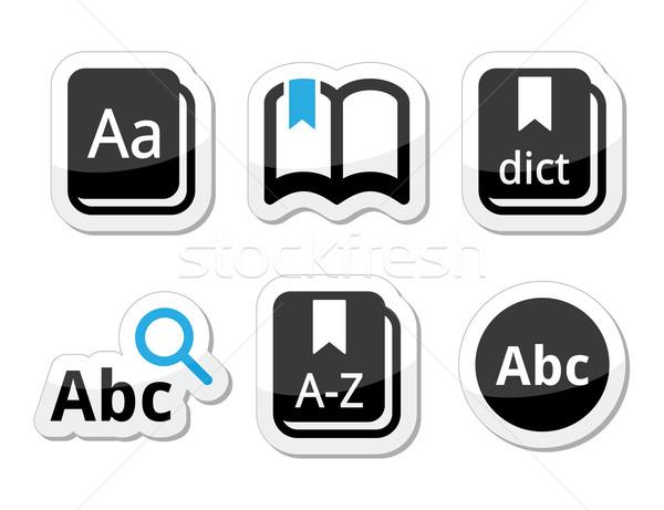 Sözlük kitap vektör siyah mavi Stok fotoğraf © RedKoala