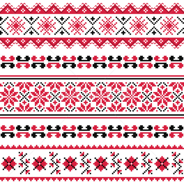 Ukrainian folk emboidery pattern or print Stock photo © RedKoala