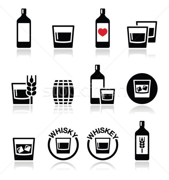 Whisky whisky alcohol vector botella Foto stock © RedKoala