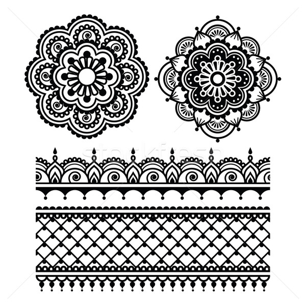 Mehndi, Indian Henna tattoo seamless pattern   Stock photo © RedKoala