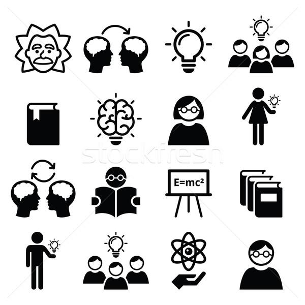 Conoscenza pensiero creativo idee vettore istruzione Foto d'archivio © RedKoala