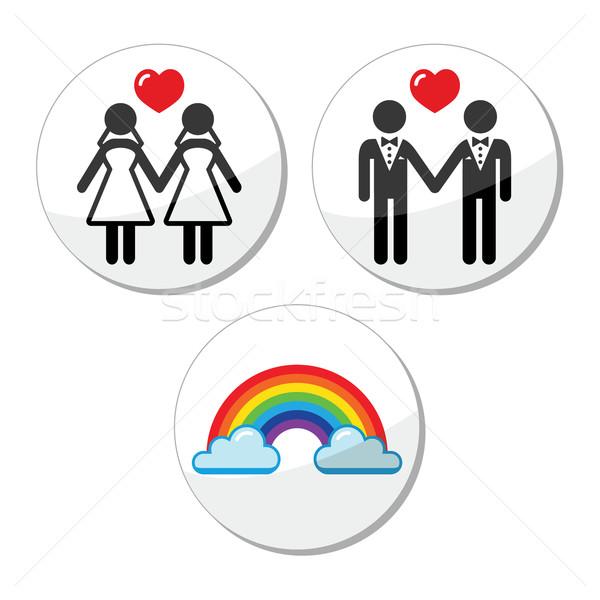 Gay lesbiche matrimonio Rainbow comunità Foto d'archivio © RedKoala