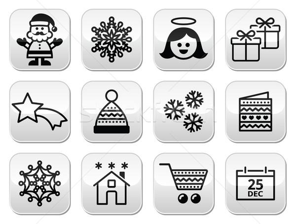 Christmas, Xmas celebrate buttons set  Stock photo © RedKoala