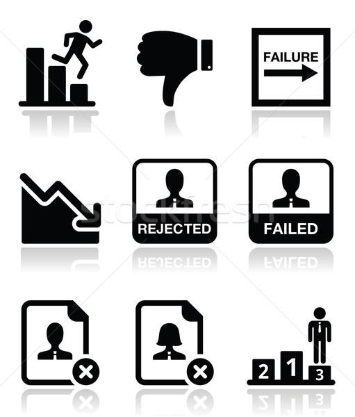 Failure, rejected man icons set Stock photo © RedKoala