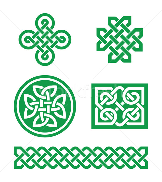 Celtic knots, braid patterns - St Patrick's Day Stock photo © RedKoala