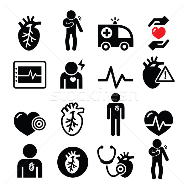 Heart disease, heart attack, Cardiovascular disease icons set  Stock photo © RedKoala