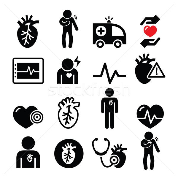 Hartziekte hartaanval cardiovasculaire ziekte gezondheid Stockfoto © RedKoala