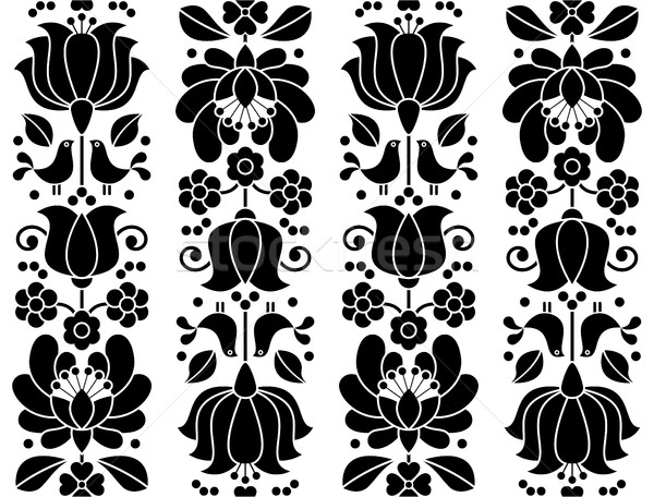 Seamless floral pattern - Kalocsai embroidery - traditional folk design from Hungary	 Stock photo © RedKoala