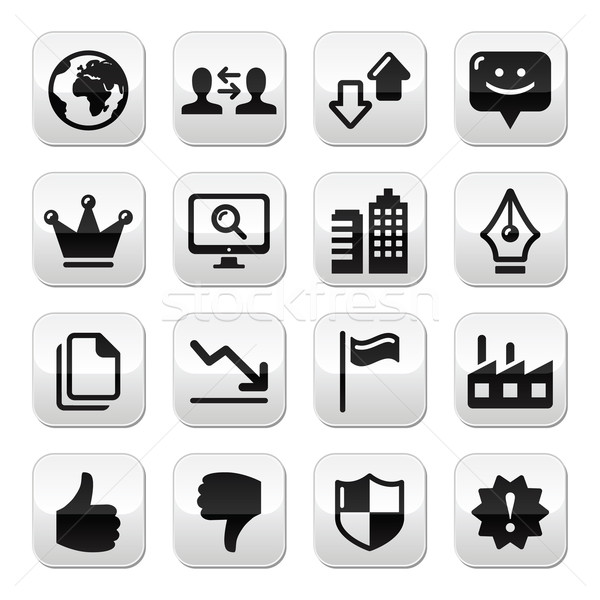 веб Интернет Кнопки набор вектора современных применение Сток-фото © RedKoala