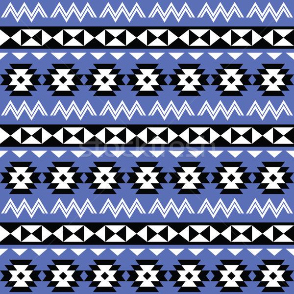 Tribal Aztec seamless pattern on purple background  Stock photo © RedKoala